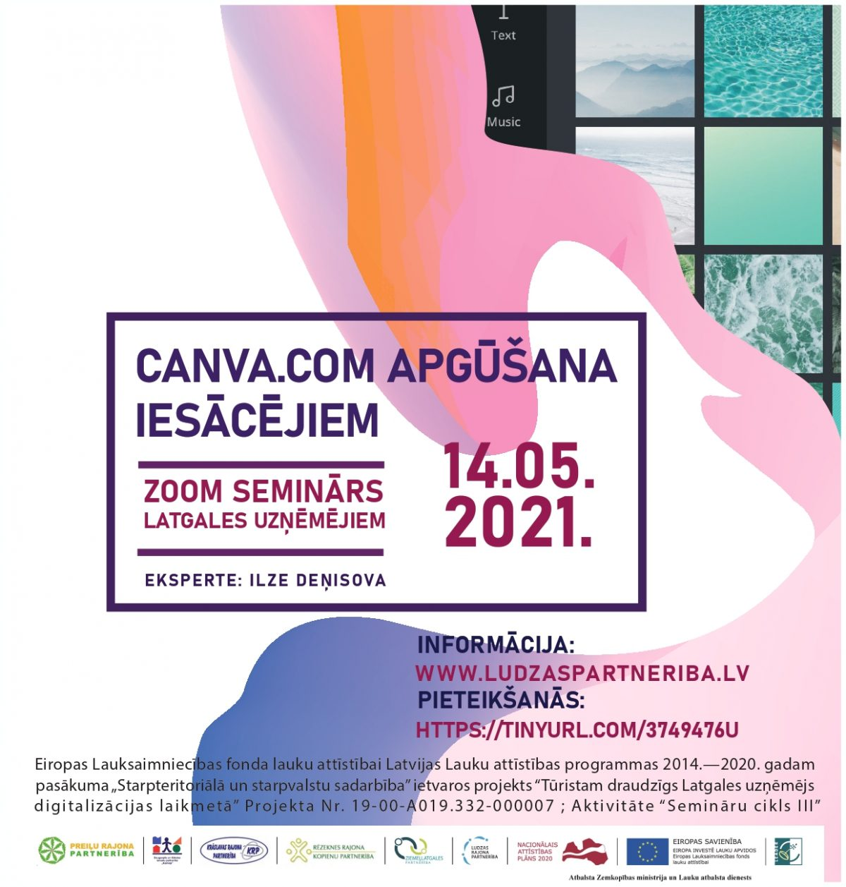 Nepalaid garām iespēju piedalīties seminārā par CANVA.COM apguvi!