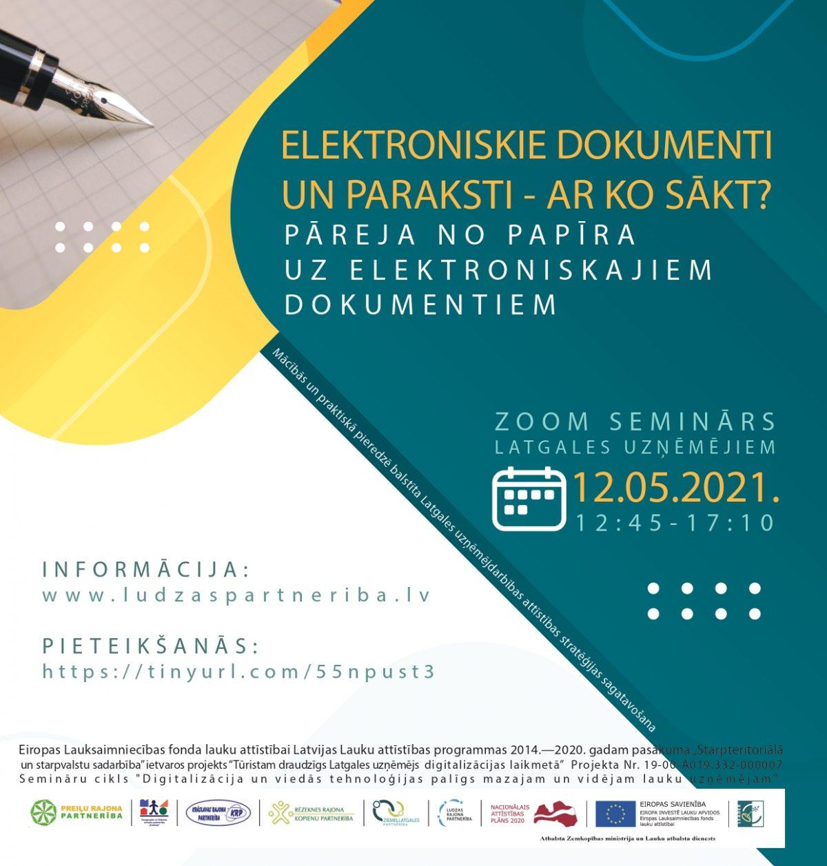 Seminārs par elektronisko dokumentu un parakstu izmantošanu