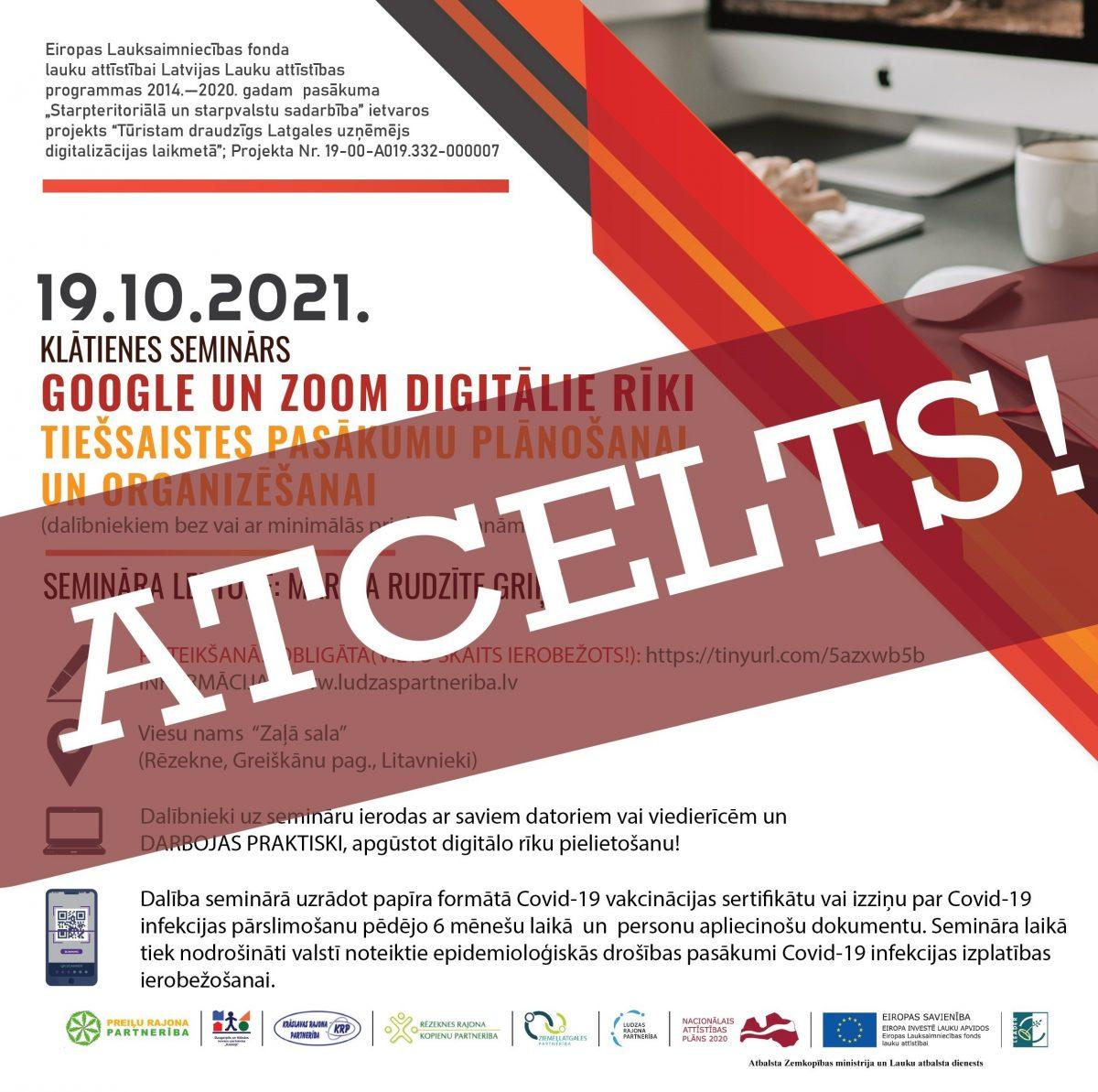 Klātienes seminārs par digitālajiem rīkiem –  ATCELTS!